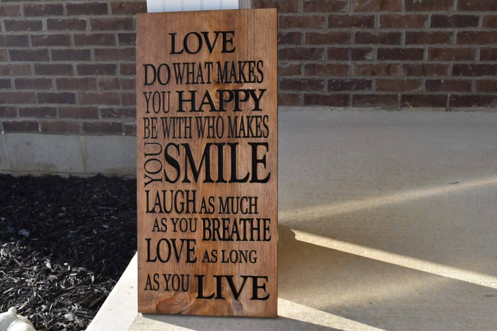 WoodworingbyLPI Love Happiness Sign