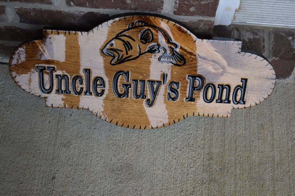Woodworking By LPI - Outdoor Pond Sign