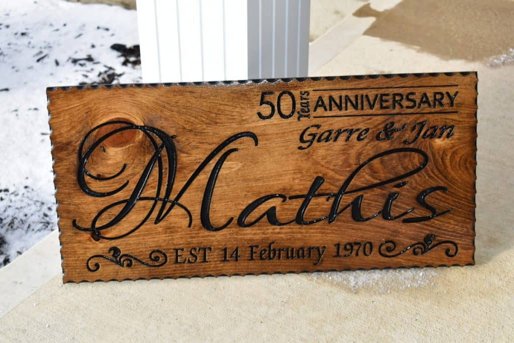 Woodworking By LPI - Last Name Anniversary