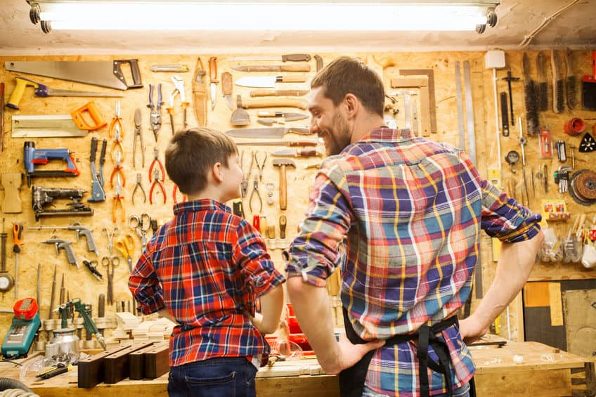 Woodworking By LPI - Dad And Son Talking