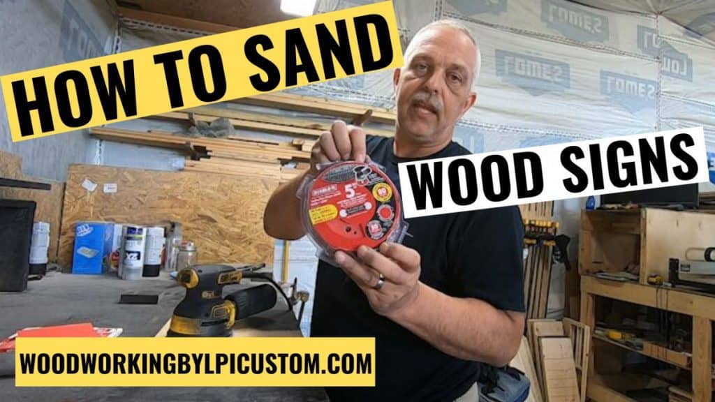 Woodworking By LPI - How to Sand Wood Signs