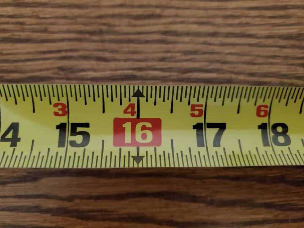 Woodworking By LPI - Tape Measure Red Marker